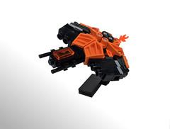 The Orange Foot (noel.peterson) Tags: lego micro spaceship bionicle foot