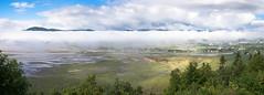 Marée montante/In coming tide/Inkommande tidvattnet [Explore] (Elf-8) Tags: sea mountain cloud fog coast river saintlawrence baiesaintpaul
