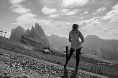 DSC_0253 (lucadesideri) Tags: dolo dolomiti monte seceda monti valgardena trentino alto adige ortisei natura montagne estate passeggiate panorami verde bianco e nero