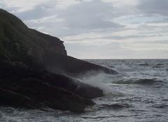 Stormy Seas, Lybster, Caithness, Septmeber 2011 (allanmaciver) Tags: lybster caithness sutherland stormy seas grey spray coast cliffs edge cloudy september allanmaciver
