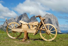 per sgommate in montagna (Johnny Rep) Tags: bicicletta scultura legno dolomiti trentino belvedere italia nikon italy 50mm