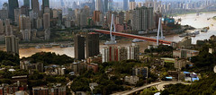 Chongqing (Slonya) Tags: chongqing china city panorama skyline bridge yangtza yellowriver redbridge sony a3000