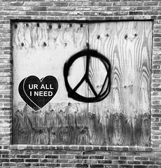 UR ALL I NEED (Tyler Merbler) Tags: baltimore ono lennon peace heart streetart graffiti allyouneedislove valentine beatles