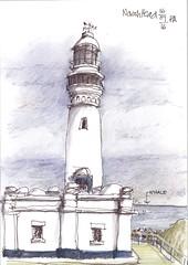Whale watching Norah Head (panda1.grafix) Tags: norahhead lighthouse seascape pencilinkwash sketch