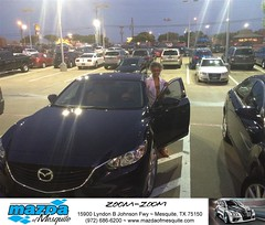 #HappyAnniversary to Celeste and your 2016 #Mazda #Mazda6 from Gregory Powell at Mazda of Mesquite! (Mazda Mesquite) Tags: mazda mesquite texas tx sportscars sporty dallas dfw metroplex automotive luxury new used preowned vehicles car dealer dealership happy customers truck pickup sedan suv coupe hatchback wagon van minivan 2dr 4dr bday shoutouts