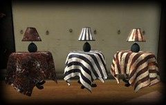 [MO] Halloween Tables and Lamps (melyna.foxclaw) Tags: magnumopus mo theartistsshed iheartslfeed halloween homedecor homegarden facepalm iconic thewash indiansummer