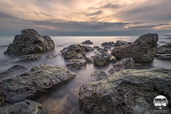 Sky. Sea. Rocks (kenneth chin) Tags: beach dawn digitalblending attraction sky longexposure nisind100030filter nisi150mmfilterholdersystem portdickson nikon d810 nikkor 1424f28g malaysia yahoo google seascape rocks sea