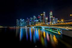 Singapore Nightscape (liewjw) Tags: singapore cityscape nightscapes urban river bridge buildings architecture reflections canon asia travel