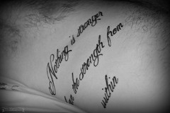 Inspirational Tattoo (The Vegan Taff Photography) Tags: tattoo inspirational lettering words text font quote quotes inspiring blackandwhite blackandwhitephotography blackbackground male hot guy hairy chest body hair model malemodel hairychest bodyhair inspiringwords inspirationaltattoo hotmale hotguy torso inside bedroomphotography boudoir indoors nikond3200 nikon d3200