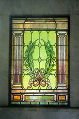 Sleepy Hollow Cemetery - Purdy Mausoleum (jrozwado) Tags: northamerica usa newyork sleepyhollow purdy stainedglass window mausoleum