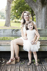 Mom and Daughter on Bench (Nick - n2photography) Tags: select girl mom daughter outdoor portrait canon5dsr sharp sigma50mm14art bokeh pretty sunlight sunset natural nebraska fall summer color colorful