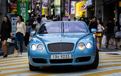 (seua_yai) Tags: car automobile asia korea southkorea korean seoul urban city street wheels korea2015 urbanmobility go koreaseoul2016 bentleybristishcar luxurycar