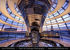 Germany - Berlin - Reichstag - Parliament - Dome of the The Reichstag - Large glass dome at the very top of the building ( Lucie Debelkova / www.luciedebelkova.com) Tags: world trip travel vacation holiday berlin tourism beautiful wonderful germany deutschland nice fantastic perfect europe tour place awesome country sightseeing eu visit location tourist best journey german stunning destination sight traveling lovely visiting exploration incredible touring breathtaking germania germanic centraleurope bundesrepublikdeutschland federalrepublicofgermany luciedebelkova wwwluciedebelkovacom luciedebelkovaphotography