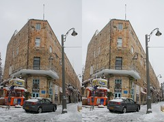 Jerusalem in snow (uriw2) Tags: snow stereophoto 3d jerusalm