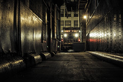 IMG_4626 (Dan Fleming.) Tags: urban chicago dan night truck photography illinois garbage alley gritty fleming