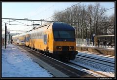 20130125 DDZ 7501, Santpoort (Bert Hollander) Tags: ic ns sneeuw met als trein dauw sprinter stel santpoortnoord ochtendzon 7501 ddz sptn ddziv bert13 wittapijt 4841sprasdhlmutg