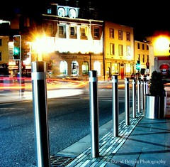 (David Bergin Photography) Tags: street city kilkenny ireland lines night lights shadows slow traffic trails parade shutter leading