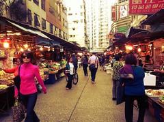 Fruit Market - Mongkok (CX734) Tags: street ladies fruit night day place market hong kong mongkok fa 2012 yuen langham uploaded:by=flickrmobile flickriosapp:filter=iguana iguanafilter