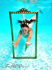 Water 6 (Francesca Morrell Photography) Tags: blue reflection water pool beautiful cards photography model chair underwater dress photoshoot highcontrast floating surface francesca elements photoframe playingcards morrell alevel naturalelements theelements beautifulmodel alevelphotography aleve