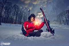 (Wonder Design) Tags: lighting light sky ski girl canon freestyle skyscapes strobe 2012 sátoraljaújhely strobist skipark
