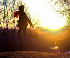 66/365 (KatieMackPhotography) Tags: sunset red sun mountain scarf golden flying suspension hill floating levitation hour 365 amherst umass katiemackphotography