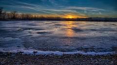 Cool Sunset Bro (Fort Photo) Tags: winter sunset lake ice nature landscape frozen pond nikon colorado fortcollins co sns openspace cinematic 169 hdr icey ftc clff warmcool d700 arapahobend arapahoebend