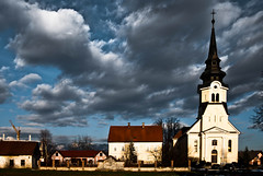 Vodice1 (gregork.) Tags: light sunset panorama church clouds photoshop landscape iso100 spring nikon sigma slovenia slovenija f56 zima f28 februar lightroom nebo vodice luč cerkev panoramio 2013 oblaki modronebo vodicebluesky