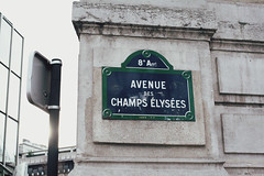 Avenue des Champs lyses (hazelnutsyrup) Tags: street travel light paris france streetsign champs streetphotography elysees travelphotography avenuedeschampslyses hazelannongphotography