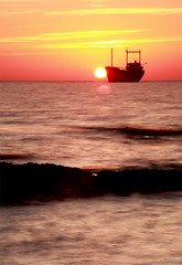 Going down (-Filippos-) Tags: sunset sea coast mediterranean ship cyprus wreck paphos pafos    chloraka