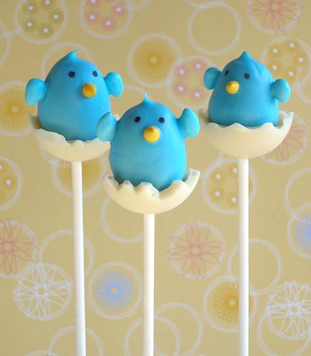 Hatching Bluebird ChocolateTruffle Pop Trio