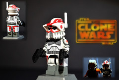 LEGO Star Wars : The Clone Wars - Sergeant Hound (MGF Customs/Reviews) Tags: season star lego 5 arc hound wars clone sergeant massif the ahsoka