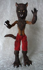 Monster High Clawd OOAK werewolf (redmermaidwerewolf) Tags: moon monster werewolf fur high wolf doll full polymerclay fimo clay epoxy resin custom mattel wolves claws lupine sculpted repaint lycanthropy lyncanthrope clawd milliput monsterhigh