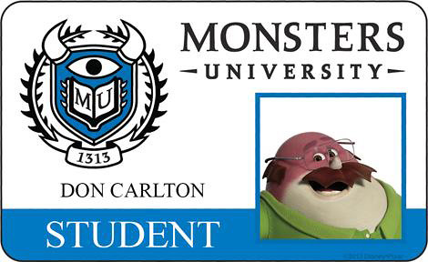 【怪獸大學】公開多款角色海報與怪獸大學學生證!