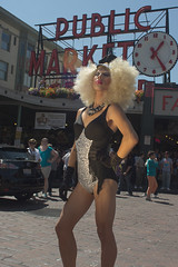 Drag: Glam Diva (TNguyen1989) Tags: seattle lighting street gay summer asian fun drag gold alley