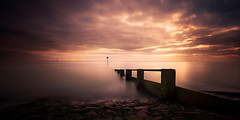 chalkwell (richard carter...) Tags: longexposure sunset seascape beach canon groyne essex 1635 chalkwell eos5dmk2
