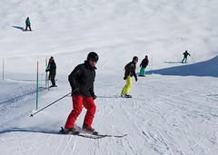 Skiing in Courchevel (paulgmccabe) Tags: mountain snow ski france alps europe skiing resort courchevel challengefactorywinner
