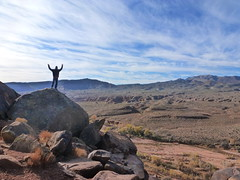 on top of creation (QsySue) Tags: family mountains digital lumix utah rocks hiking daniel hike panasonic trail santaclara pointandshoot digitalcamera petroglyph petroglyphs digitalpointandshoot titleisacarpenterslyric anasazitrail panasoniclumixdmczs8 ancientrockdrawing ancientrockwriting