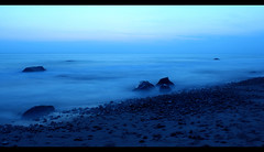 Listen ~ explored (Liddy5) Tags: ocean blue sea beach night evening twilight rocks waves dusk atlantic marthasvineyard seashore aquinnah