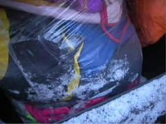 snowyjdbags8 (muckyclothes) Tags: christmas trash garbage plastic rubbish bags jd dustbin clearout