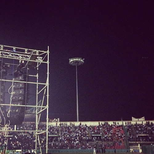 We blaze stadiums. Thank you #Brazzaville. It was amazing. I love u lots