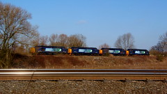 A Field full of Tractors (Jim the Joker) Tags: train railway type3 drs englishelectric class37 37218 37261 37609 directrailservices 37601 stensonjunction 0z38