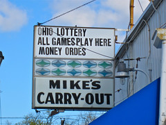Mike's Carry-Out, Toledo, OH (Robby Virus) Tags: ohio money beer sign corner out store games mikes lottery toledo cocacola orders 32 carry convenience carryout