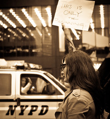 Only The Beginning (thethingsitdoes) Tags: nyc newyork protest wallstreet libertyplaza zuccottipark occupywallstreet wearethe99 nycbacksdown