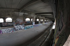 Abandoned Subway (zlphotography2013) Tags: new york urban art canon subway photography eos graffiti fisheye 8mm t3i 600d rokinon