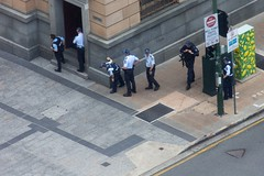 Lockdown! (obLiterated) Tags: police australia brisbane ambulance queensland swat queenstreetmall gunman seige policeincident