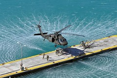 Working together (The National Guard) Tags: coastguard usa black tower water puerto soldier islands coast boat us marine hawk military united guard rico virgin helicopter national nationalguard soldiers marines states beacon guardsmen joint guardsman uh60 slingload prng prarng