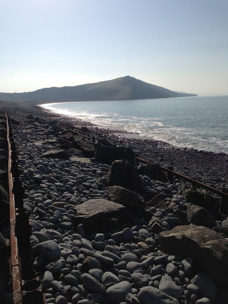 Cliffs south of Tanybwlch beach