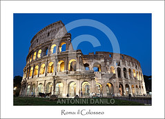 Roma: il Colosseo (17762) (Danilo Antonini (Pescarese)) Tags: road street old city travel blue italy holiday rome roma history tourism monument architecture canon eos town twilight ancient strada italia roman blu monumento centro amphitheatre arches unesco colosseum romano via hour flavio bluehour ora avenue turismo antico viaggio architettura touring vacanza romana eternal lazio turisti citt fori colosseo imperiali anfiteatro archi mondo crepuscolo storico storia patrimonio eterna impero meraviglia umanit orablu citteterna imbrunire canonef24105f4lisusm pescarese patrimoniodellumanitunesco canoneos5dmark2 settemeravigliedelmondo