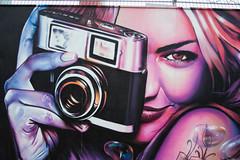 Graffiti at the european central bank (Rene Stannarius) Tags: germany deutschland graffiti am european hessen frankfurt main central bank baustelle ezb osthafen zentralbank europische