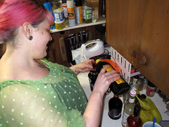 Nadja making mai-tais at Miller's Do What You Want Party 2 (benchilada) Tags: party do you want what millers